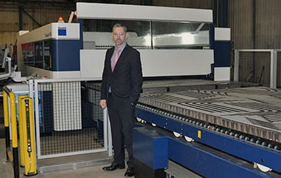MTL's Karl Stewart alongside the new Trumpf TruLaser 8000 laser.