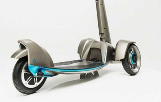 'E-floater' from Floatility – a first-of-its-kind, lightweight, solar-powered, electric scooter. The working prototype was created with Stratasys 3D printing - image courtesy of Stratasys