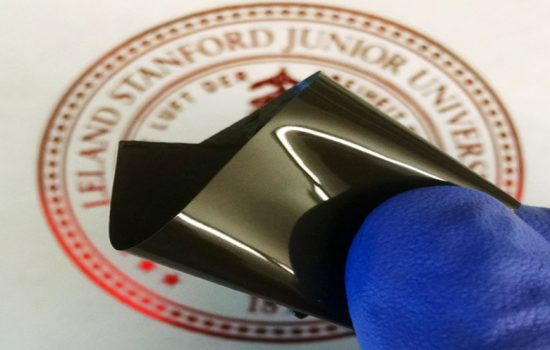 The thin polyethylene film that prevents a lithium-ion battery from overheating. Image courtesy of Stanford University.