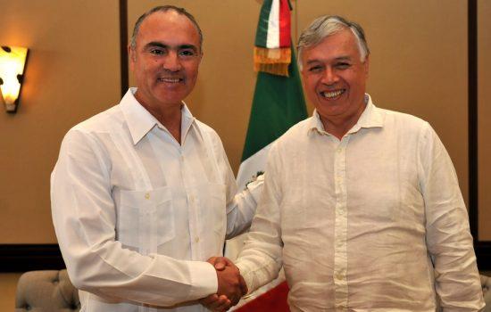 Con certificación electrónica Chile y México esperan agilizar procesos - Imagen de los ministros de las naciones Chile y México.