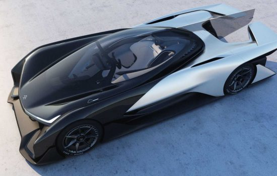 The Faraday Future FFZERO1 concept car. Image courtesy of Faraday Future.