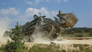 BAE Systems has developed an upgraded version of the Terrier tank which will be used by the British army - image courtesy of BAE Systems.