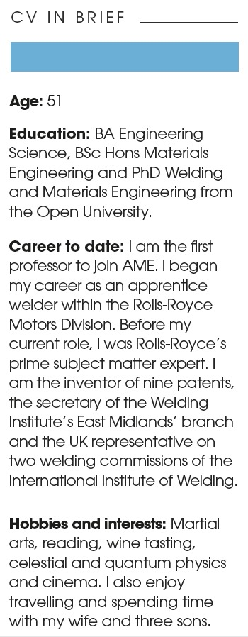 CV - Steve Jones, professor of Manufacturing Systems and Processes at the Institute for Advanced Manufacturing and Engineering (AME).
