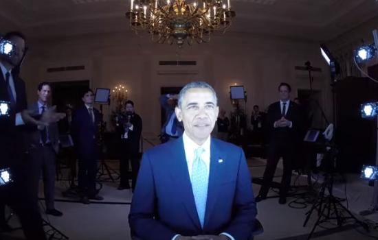Scanning US President Barack Obama with an Artec Eva 3D scanner - image courtesy of Artec