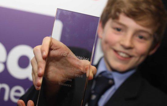 Whitgift School - RBC London winners collect trophy