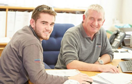 First year apprentice, Ben Newby, under the mentorship of technical director, Paul Newby (both Lambert Engineering).