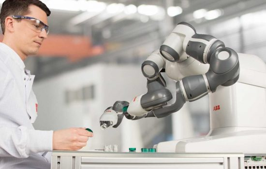 ABB Robotics' YuMi is designed to be used in close proximity to regular personnel.