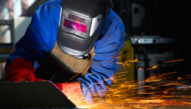 Manufacturing Welding Stock Image