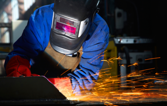 Traditional Sectors Manufacturers Manufacturing Welding Stock Image