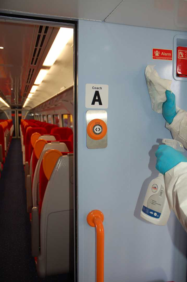 Train cleaning interior walls - Arrow Solutions