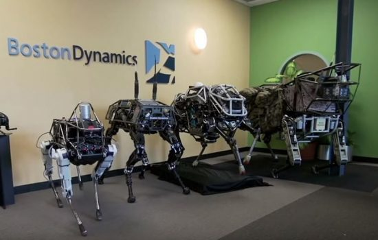 Boston Dynamics produced a number of robotic systems. Image courtesy of Boston Dynamics.