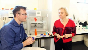 Dr Justin Steele-Davies and Professor Angela Dean of the University of Derby