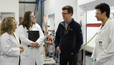 Royal Society of Chemistry director, Clare Viney, spends day as apprentice to celebrate National Apprenticeship Week