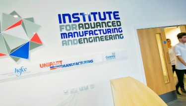 The Institute for Advanced Manufacturing and Engineering is a collaboration between Coventry University and Unipart Manufacturing.