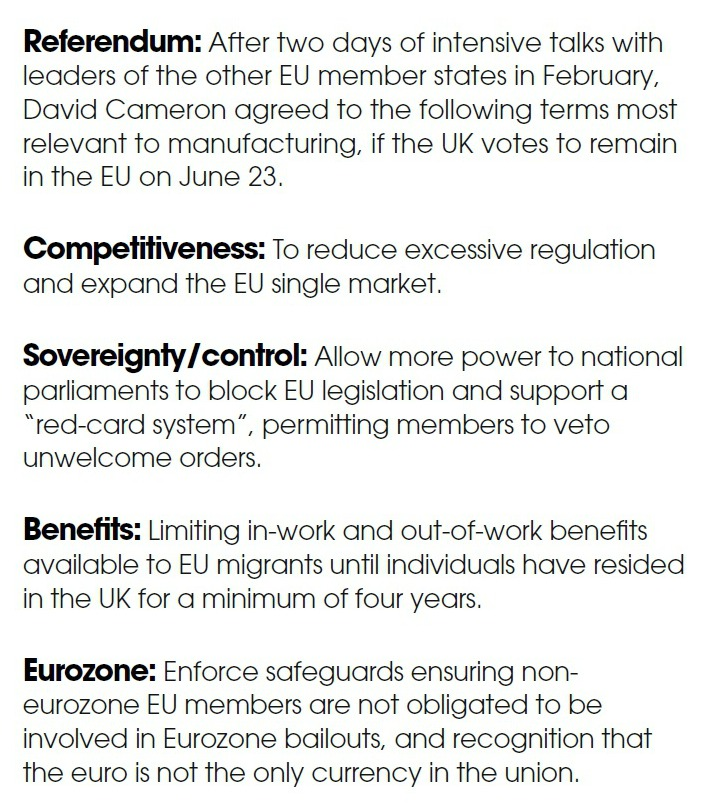 Key EU Reforms for Manufacturing - Brexit