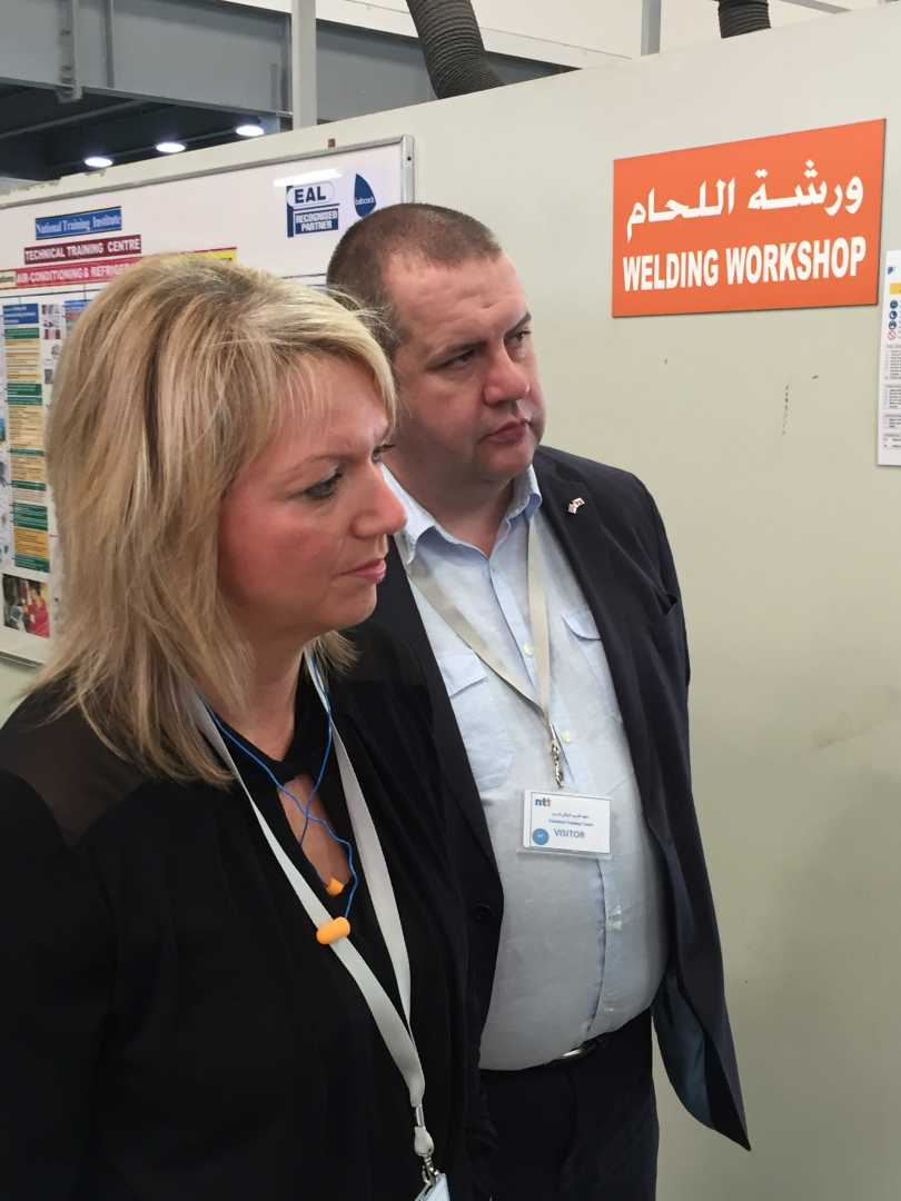 EAL's Julia Chippendale & John Parkes, head of Commercial at Semta, during their visit to Oman.