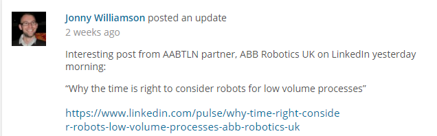 AAB Robotics AABTLN post