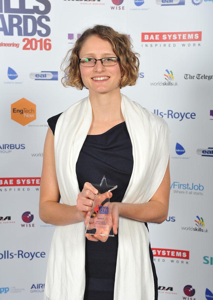 Airbus' Emma England was named Graduate of the Year and overall Best in British Engineering.