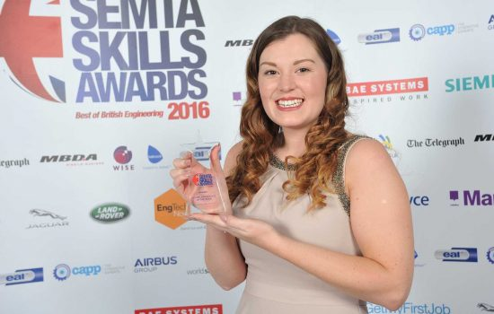 BAE's Joanne Sharples was named Semta Higher Apprentice of the Year.