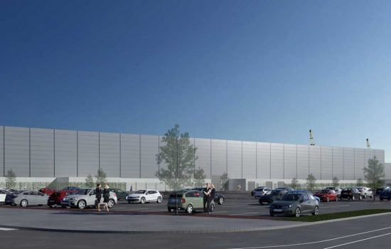 An artist's impression of Siemens wind turbine production and logistics facilities in Hull.