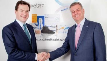 George Osborne & Richard Anderson (CEO, Crawford Healthcare)