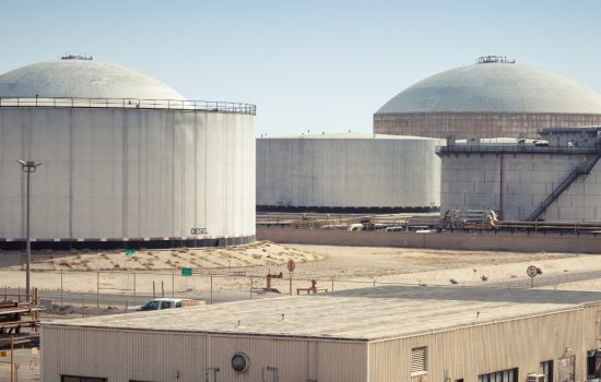 Fuel tanks at the Ras Tanura oil terminal, Saudi Arabia - image courtesy of Adobe