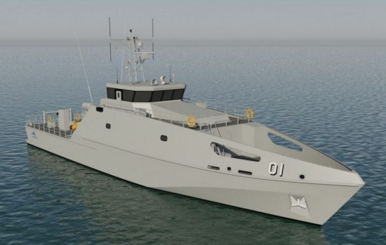 A Pacific Patrol Boat concept rendering. Image courtesy of Austal.