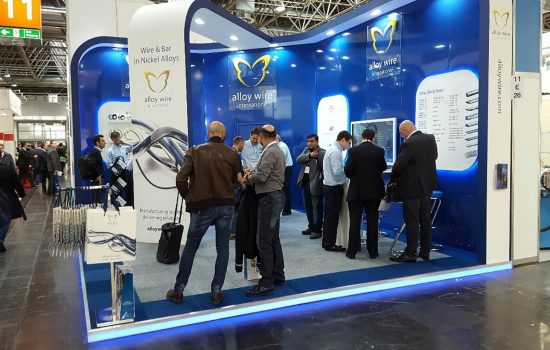 Alloy Wire's new stand, which caused a lot of interest at the show.