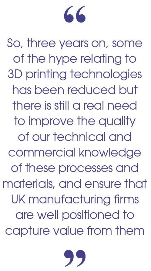 3D Printing University of Cambridge PQ - May 2016