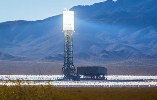 On 19 May, 2016, San Bernardino County Fire responded to a fire at The Ivanpah concentrated solar power plant in California - image courtesy of San Bernardino County Fire Department. Global Power Grid