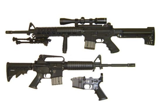 An AR-15 rifle was used in the Sandy Hook shootings. Image courtesy of Wikipedia.