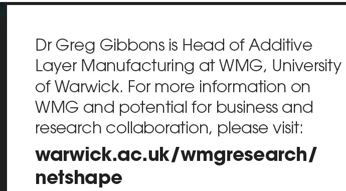 WMG 3D Additive Manufacturing 3D Printing Link - May 2016