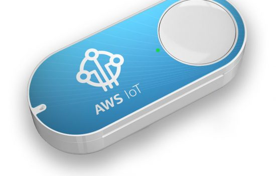 The Amazon AWS IoT Button - image courtesy of Amazon