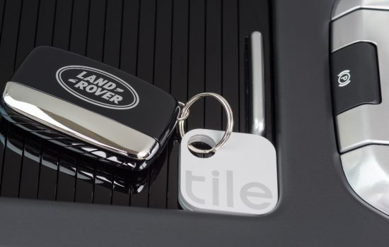 Jaguar Land Rover has partnered with Tile to help customers locate lost items with Bluetooth tracking - image courtay of JLR.