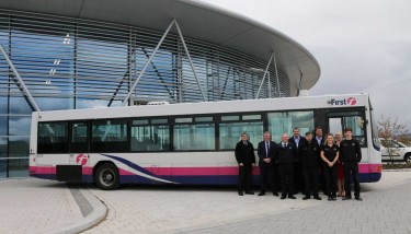 The bus was donated free-of-charge by First Group plc, transport providers for the UK and North America.