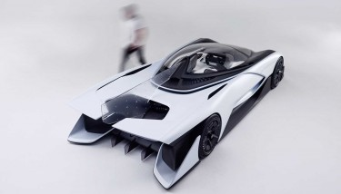 The FFZERO1 Concept Car was launched at the 2016 Consumer Electronics Show (CES) and was showcased at Beijing International Automobile Exhibition - image courtesy of Faraday Future