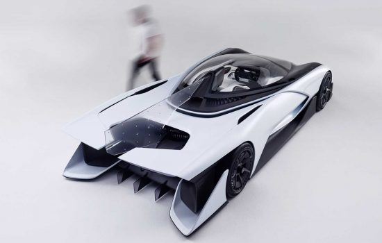 The Faraday Future FFZERO1 Concept Car was launched at the 2016 Consumer Electronics Show (CES) and was showcased at Beijing International Automobile Exhibition - image courtesy of Faraday Future.