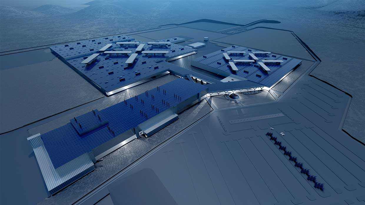 Faraday Future announced in April 2016 that it had broken ground on its State-of-the-Art Manufacturing Facility in North Las Vegas - image courtesy of Faraday Future