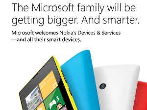 A Microsoft ad announcing the launch of its partnership with Nokia - image courtesy of Microsoft