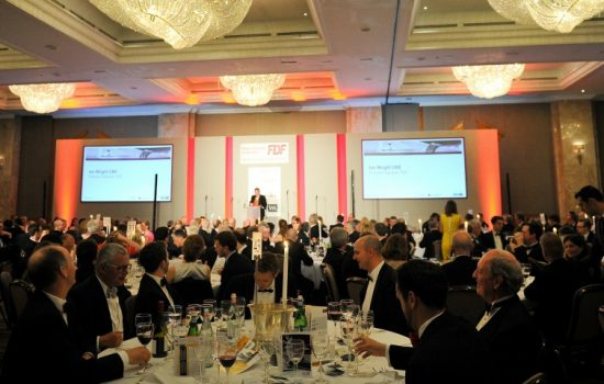 Over 500 guests from industry, government and the media attended the FDF Food and Drink Industry Dinner (image courtesy of the FDF).