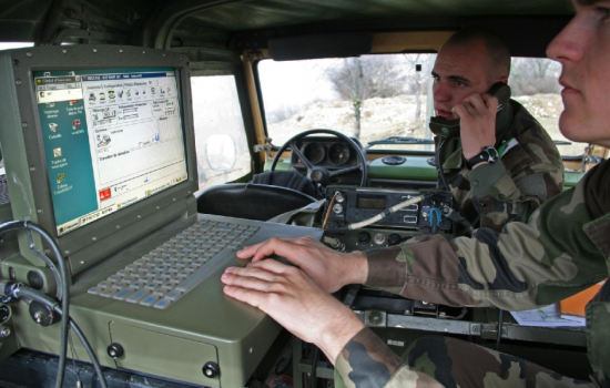 Soldiers using existing Thales HF station communication technology - image courtesy of Thales