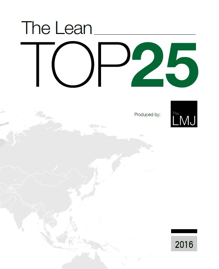 The Lean Top 25 2016 - The LMJ - Front Cover