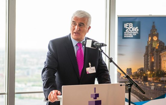Max Steinberg CBE, chair, International Festival for Business 2016.