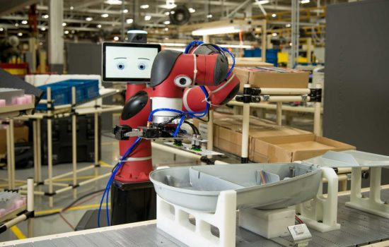 Cobots - New robotic manufacturing and automation could displace millions of workers in the ASEAN region. Image courtesy of Rethink Robotics.