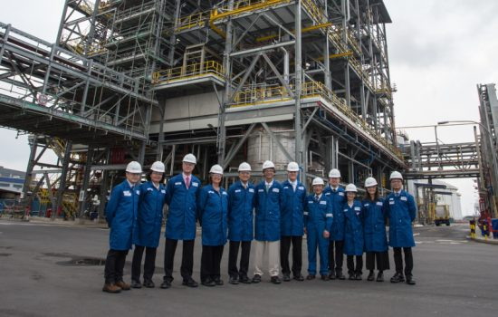 Afton Chemical staff at the new $100m plant on Jurong Island, Singapore - image courtesy of Afton Chemical