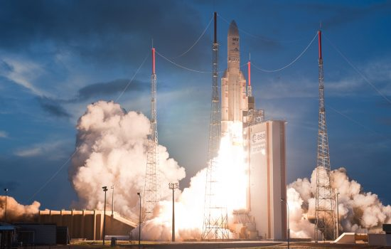 An Ariane 5 rocket takes off - image courtesy of Ariane Space.
