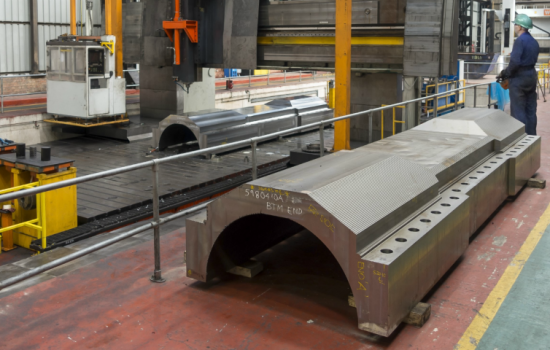 Sheffield Forgemasters' forgings for the Nord Stream pipeline - image courtesy of Sheffield Forgemasters.