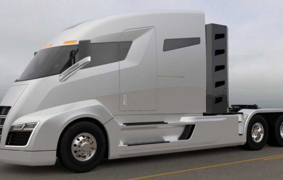 A rendering of the Nikola One semi-truck. Image courtesy of Nikola Motor Company.