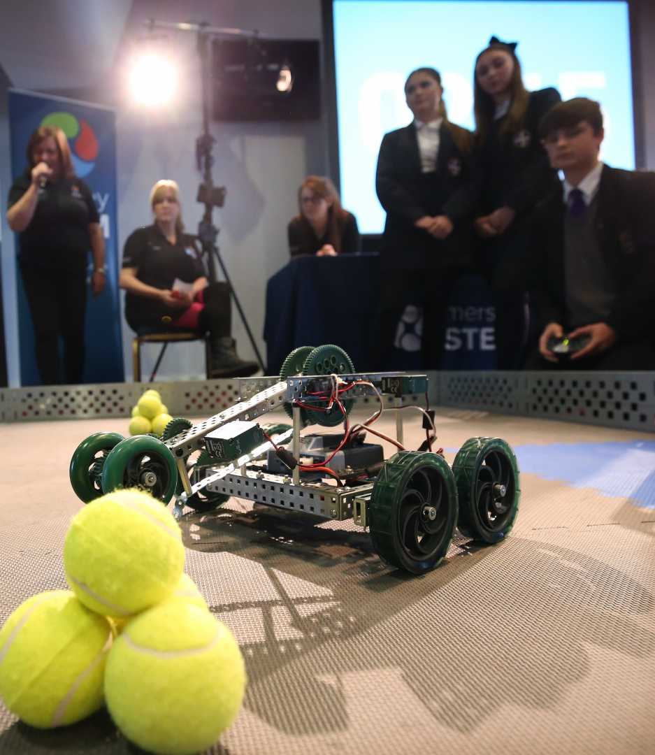The junior engineers will learn new skills in leadership and problem solving - image courtesy of MerseyStem.