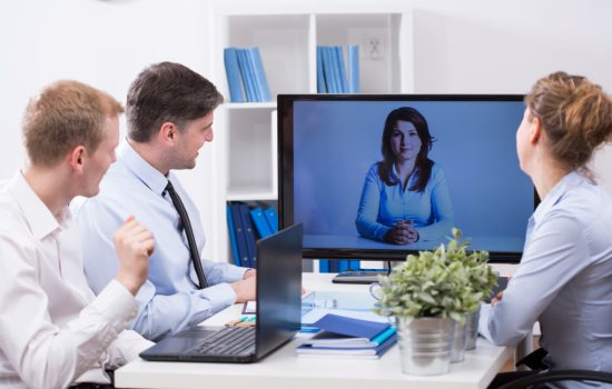 Video conferencing can offer significant benefits to staff and the bottom line - image courtesy of Adobe Stock.